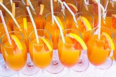 Succo del cocktail in una flauto Immagini Stock
