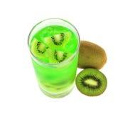 Succo del kiwi Immagini Stock Libere da Diritti