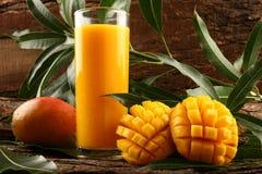 Succo del mango di Alphonso dell'indiano Fotografie Stock