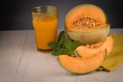 Succo del melone di melata Fotografia Stock Libera da Diritti