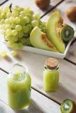 Succo del melone e di uva Immagini Stock