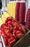 Succo del pomelo e del melograno Fotografia Stock