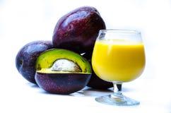 Succo dell'avocado Fotografie Stock Libere da Diritti