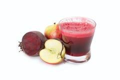Succo della barbabietola e di mela Immagini Stock Libere da Diritti