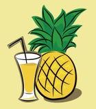 Succo di ananas Fotografie Stock