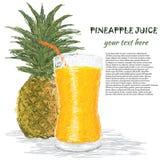 Succo di ananas Fotografia Stock Libera da Diritti