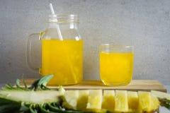 Succo di ananas Fotografia Stock