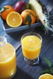 Succo di ananas arancio del mango Immagini Stock