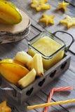 Succo di ananas e della carambola Immagini Stock
