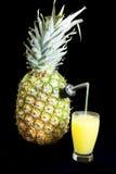 Succo di ananas fresco Fotografia Stock