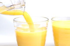 Succo di arancia Immagini Stock