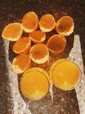 Succo di arancia compresso fresco Immagine Stock Libera da Diritti