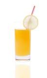 Succo di arancia (con il percorso di residuo della potatura meccanica) Fotografia Stock Libera da Diritti