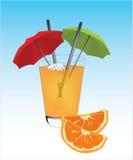 Succo di arancia della bevanda Fotografie Stock Libere da Diritti