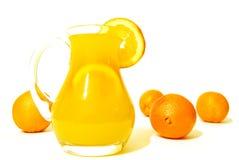 Succo di arancia dorato Fotografie Stock Libere da Diritti