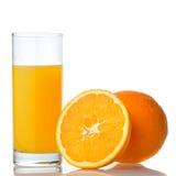 Succo di arancia ed arancio immagine stock
