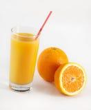 Succo di arancia fresco fotografie stock