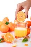 Succo di arancia fresco. Immagini Stock Libere da Diritti