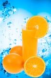 Succo di arancia fresco Fotografia Stock Libera da Diritti