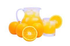 Succo di arancia isolato Fotografia Stock Libera da Diritti