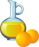 Succo di arancia in un vaso di vetro illustrazione di stock