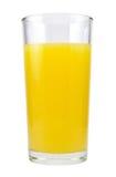 Succo di arancia in vetro Fotografie Stock