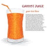 Succo di carota Immagini Stock Libere da Diritti