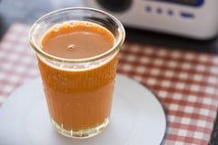 Succo di carota Immagini Stock
