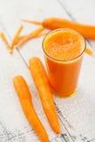 Succo di carota Fotografie Stock
