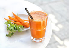 Succo di carota Immagine Stock Libera da Diritti