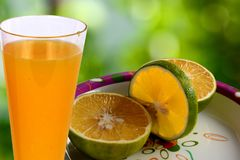 Succo di frutta arancio Immagini Stock