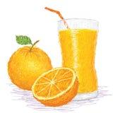 Succo di frutta arancio Fotografia Stock