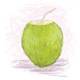 Succo di frutta della noce di cocco Fotografia Stock