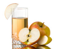 Succo di mele fresco Immagini Stock