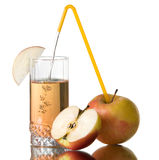 Succo di mele fresco Fotografia Stock Libera da Diritti