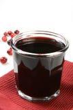 Succo di mirtillo rosso Fotografia Stock