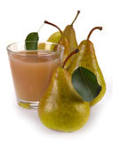 Succo di pera e frutta Fotografia Stock Libera da Diritti