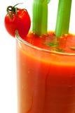 Succo di pomodoro con il bastone di sedano Immagine Stock