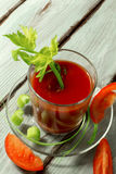 Succo di pomodoro con sedano Fotografia Stock