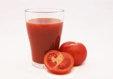 Succo di pomodoro e pomodoro Fotografia Stock Libera da Diritti