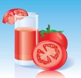 Succo di pomodoro fresco Immagini Stock Libere da Diritti