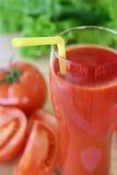Succo di pomodoro fresco Immagini Stock