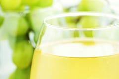 Succo di uva bianca Fotografie Stock Libere da Diritti