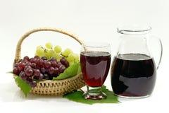 Succo di uva rossa Immagini Stock
