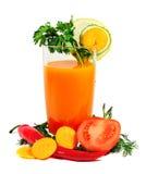 Succo di vegetali Immagine Stock