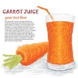 Succo di vegetali della carota Immagine Stock