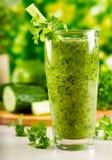 Succo di vegetali verde Fotografia Stock Libera da Diritti
