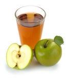 Succo e frutta di mele Fotografia Stock