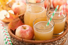 Succo e mele di mele freschi Immagine Stock