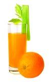 Succo e sedano di arancia Immagine Stock